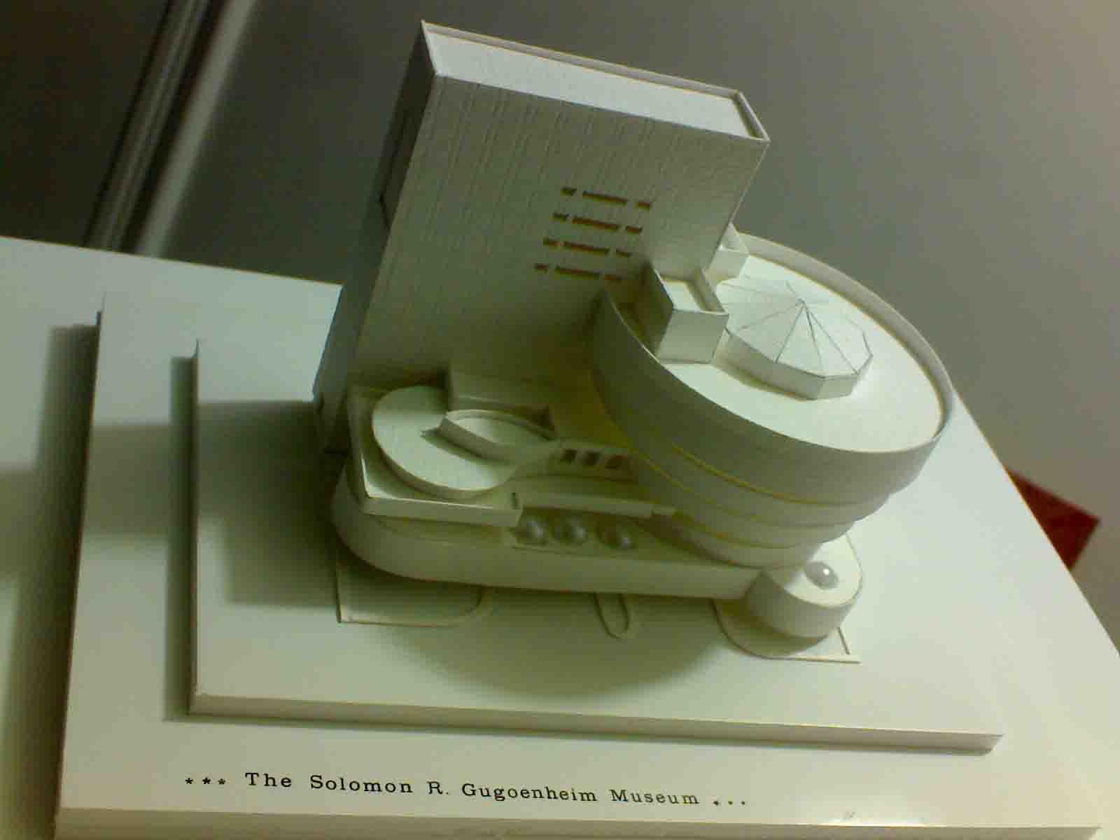 ماکت موزه گوگنهایم اجرایی بخش ماکت های دانشجویی